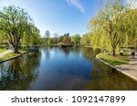 beautiful spring day at boston...   Shutterstock . vector #1092147899
