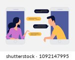 people chatting  social... | Shutterstock .eps vector #1092147995