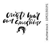 summer quote hand lettering  | Shutterstock .eps vector #1092150191