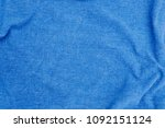 linen fabric denim blue... | Shutterstock . vector #1092151124