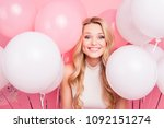 portrait of cheerful childish... | Shutterstock . vector #1092151274