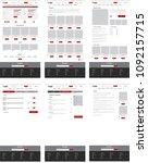 ecommerce website template  set ... | Shutterstock .eps vector #1092157715