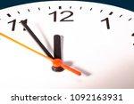 five minutes to twelve clock ... | Shutterstock . vector #1092163931