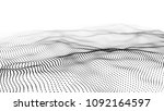 abstract digital wave particle. ... | Shutterstock .eps vector #1092164597