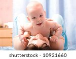 mother's love. cute baby 6... | Shutterstock . vector #10921660