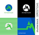 letter m design logo | Shutterstock .eps vector #1092171161