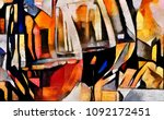 wine themes in the style of... | Shutterstock . vector #1092172451