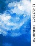 abstract modern vector... | Shutterstock .eps vector #1092173471