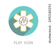 medical  ambulance  line icon | Shutterstock .eps vector #1092183251