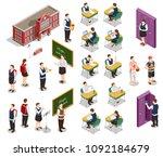 high school isometric people... | Shutterstock .eps vector #1092184679