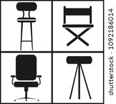 chair set icon | Shutterstock .eps vector #1092186014