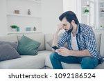 fail  portrait of sad...   Shutterstock . vector #1092186524