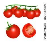 vector illustration of a red... | Shutterstock .eps vector #1092186821