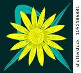 creative flower stylization....   Shutterstock .eps vector #1092186881
