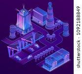 vector 3d isometric city in... | Shutterstock .eps vector #1092188849