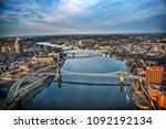 cincinnati from above | Shutterstock . vector #1092192134