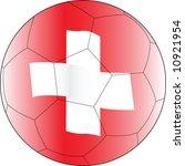 soccer ball switzerland | Shutterstock .eps vector #10921954