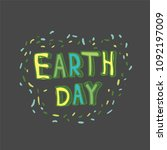earth day. concept design for... | Shutterstock .eps vector #1092197009