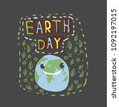 earth day. concept design for... | Shutterstock .eps vector #1092197015