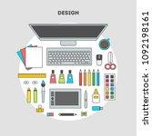 flat design of modern creative... | Shutterstock . vector #1092198161