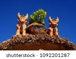 pucara bulls  are placed on the ... | Shutterstock . vector #1092201287