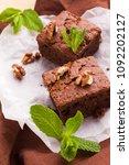 brownie sweet chocolate dessert ...   Shutterstock . vector #1092202127