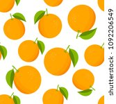 oranges pattern. colorful... | Shutterstock .eps vector #1092206549
