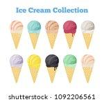vector ice cream collection in...   Shutterstock .eps vector #1092206561