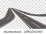 winding road vector illustration | Shutterstock .eps vector #1092241445