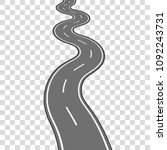 winding road vector illustration | Shutterstock .eps vector #1092243731