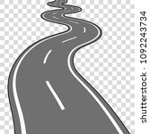 winding road vector illustration | Shutterstock .eps vector #1092243734