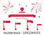 9 august. singapore... | Shutterstock .eps vector #1092244151