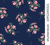 pink flower bouquets on navy  ... | Shutterstock .eps vector #1092245321