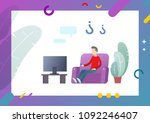 abstract flat with decorative... | Shutterstock .eps vector #1092246407