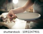process of making the ceramic... | Shutterstock . vector #1092247901