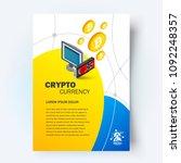 rig graphics card mining... | Shutterstock .eps vector #1092248357