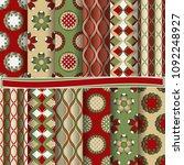 set of abstract vector paper...   Shutterstock .eps vector #1092248927