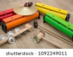 a set of montessori musical... | Shutterstock . vector #1092249011