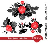 red rose roses composition... | Shutterstock .eps vector #1092256874