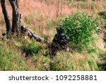 the military in the forest with ...   Shutterstock . vector #1092258881