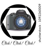 a realistic modern camera in... | Shutterstock .eps vector #1092260009