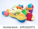 children s toys isolate on a... | Shutterstock . vector #1092262571