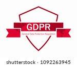 general data protection...   Shutterstock .eps vector #1092263945