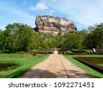 sigiriya rock or lion rock in... | Shutterstock . vector #1092271451