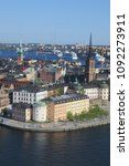 an amazing view of stockholm... | Shutterstock . vector #1092273911