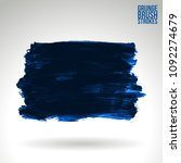 blue brush stroke and texture.... | Shutterstock .eps vector #1092274679