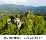 aerial view of castle ruins... | Shutterstock . vector #1092275894