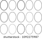 set of decorative oval borders  ... | Shutterstock .eps vector #1092275987