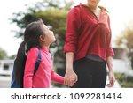 back to school concept  mother... | Shutterstock . vector #1092281414