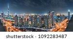 dubai downtown night panorama... | Shutterstock . vector #1092283487